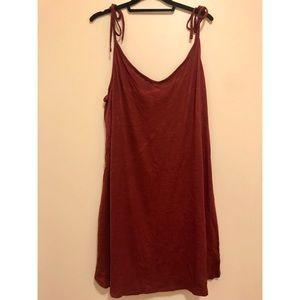 Basic Slip-style Dress in Maroon
